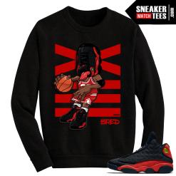 Jordan 13 Bred Sneakerhead Black Crewneck Sweater