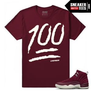 Retro Jordans Bordeaux 12 T shirt