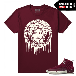 Sneaker tees Match Bordeaux 12s