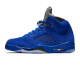 Blue Suede Air Jordan Retro 5 shoes