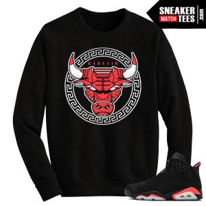 Infrared 6s Black Crewneck Sweater Bullsace