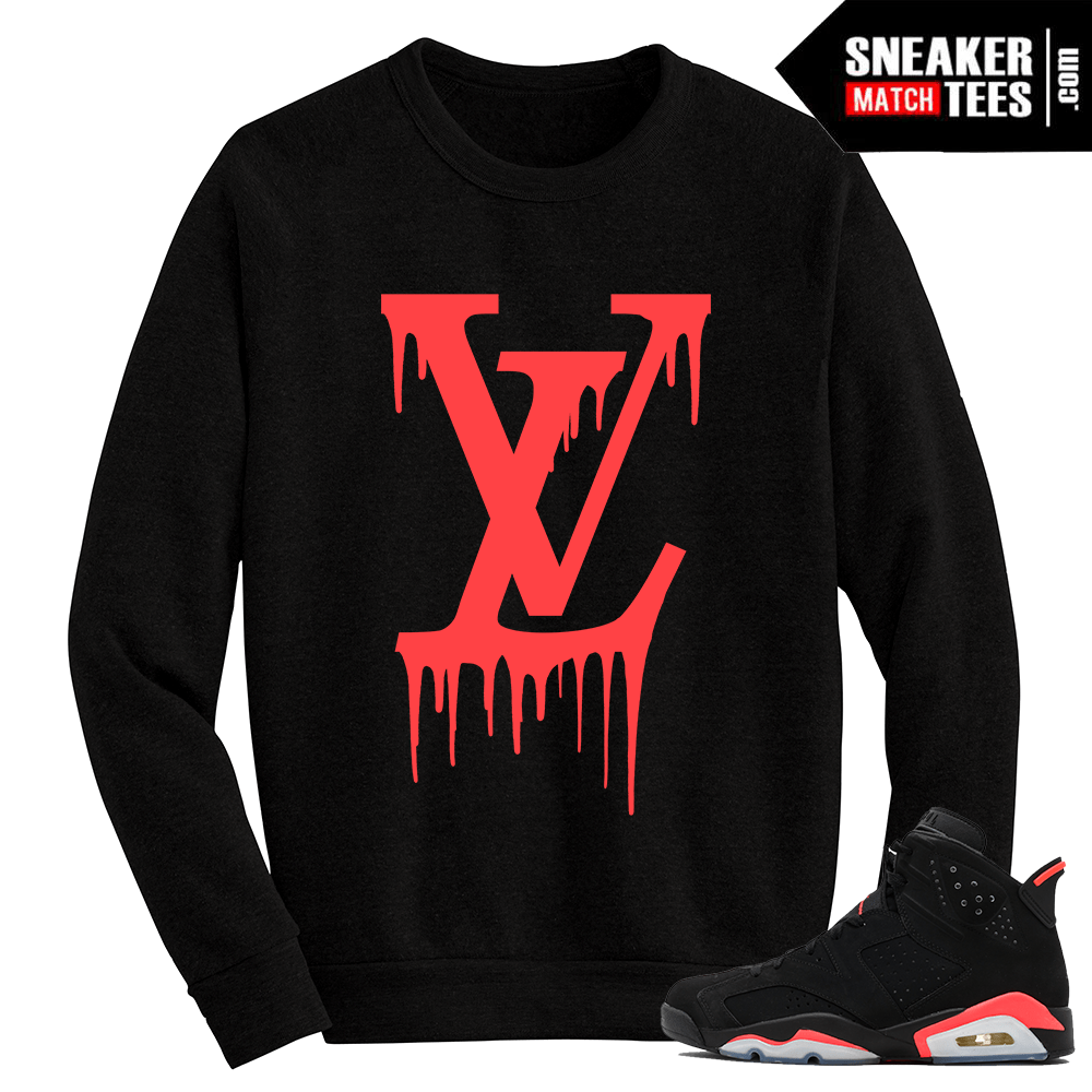 Infrared 6s Black Crewneck Sweater LV Drip
