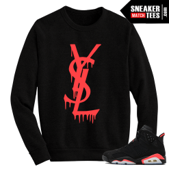 Infrared 6s Crewneck Sweater YSL Drip