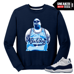 Jordan 11 Midnight Navy Crewneck Sweater Bad Boy Jersey