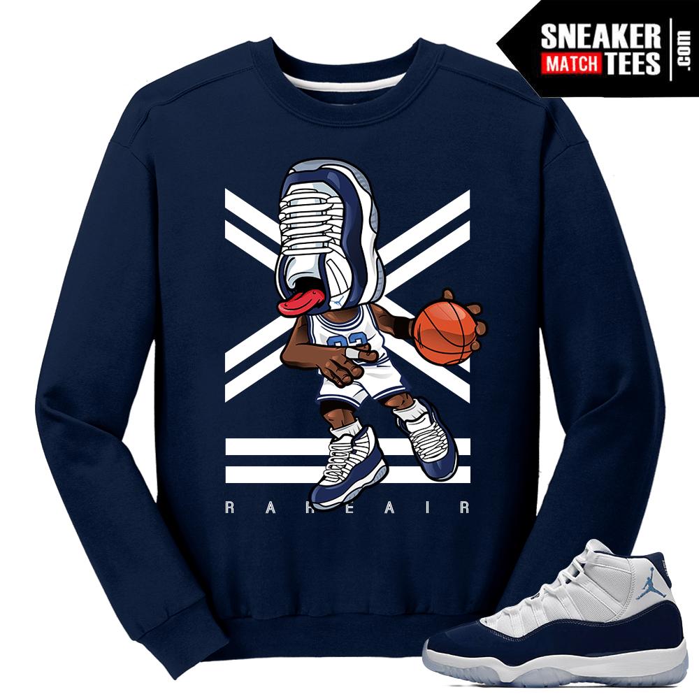 b1b4a0df43395c Jordan 11 Midnight Navy Crewneck Sweater Sneakerhead 11