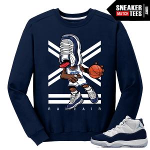 Jordan 11 Midnight Navy Crewneck Sweater Sneakerhead 11