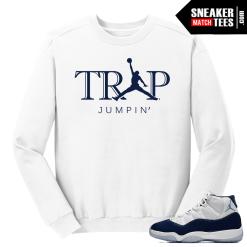 Jordan 11 Midnight Navy Crewneck Sweater White Trap Jumpin