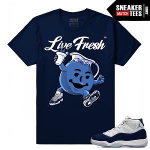 Jordan 11 Midnight Navy Shirt Koolaid Fresh