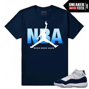 Jordan 11 Midnight Navy Sneaker tees NBA