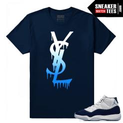 Jordan 11 Midnight Navy Sneaker tees YSL Drip