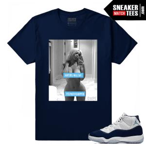 Jordan 11 Midnight Navy T shirt Haters will Say