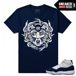 Jordan 11 Midnight Navy T shirt Medusa 11