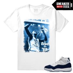 Jordan 11 Midnight Navy T shirt White Victory