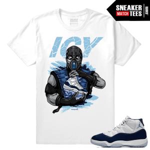 Jordan 11 Midnight Navy White T shirt Subzero Icy Sole