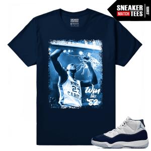 Jordan 11 Navy T shirt Win Like 82