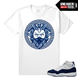 Jordan 11 Sneaker tees Midnight Navy White Dxpe Medusa