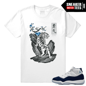Jordan 11 Sneaker tees White T shirt White Tiger