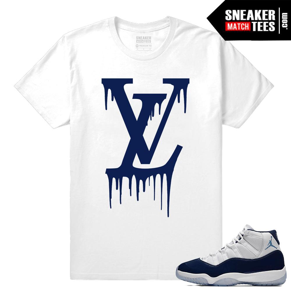 37cda8f7af51 Jordan 11 Sneaker tees Win Like 82 White T shirt LV Drip