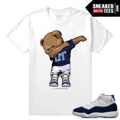 Jordan 11 win like 82 white t shirt Dabbin Polo Bear