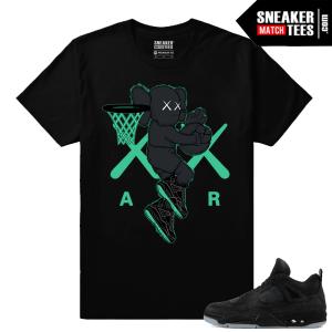 Kaws Jordan 4 Black Sneaker tees Air Kaws