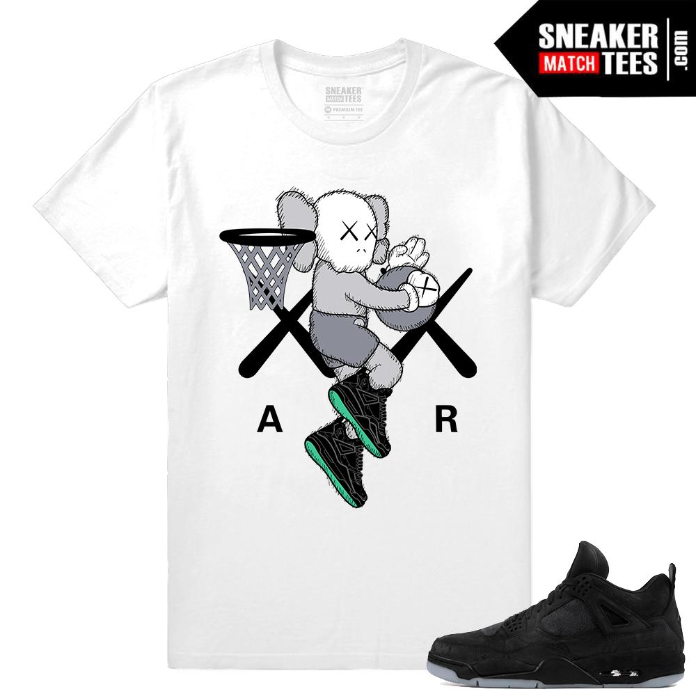 fc064698f53c Kaws Jordan 4 Black Sneaker tees White Air Kaws - Sneaker Match Tees