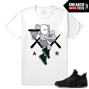 Kaws Jordan 4 Black Sneaker tees White Air Kaws