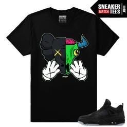 Kaws Jordan 4 Black T shirt Kaws Bull