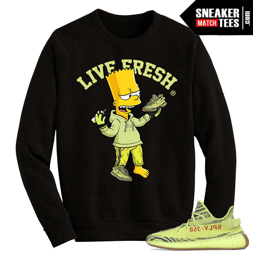 outlet for sale entire collection cute cheap Semi Frozen Yellow Yeezy Boost 350 V2 Live Fresh Bart