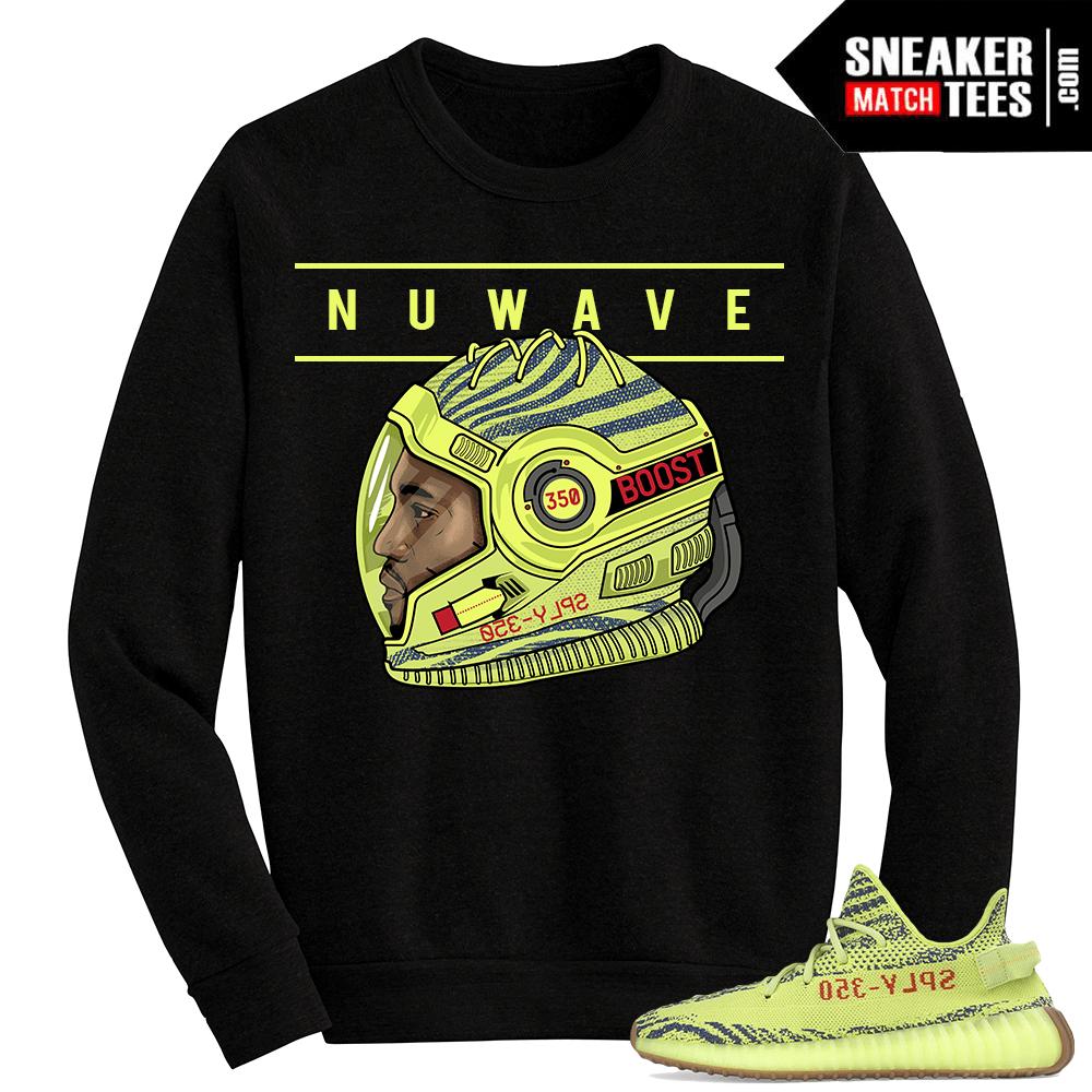 13cdd3fda Yeezy Boost 350 V2 Semi Frozen Yellow Crewneck Sweater Nuwave