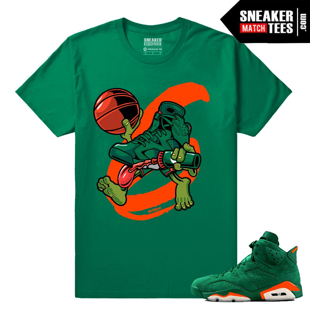 31b3b935aa77 Gatorade 6s Green Sneaker tees Air 6s - Sneaker Match Tees