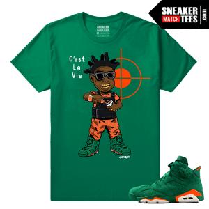 Gatorade 6s Green Sneaker tees Kodak C'est La Vie