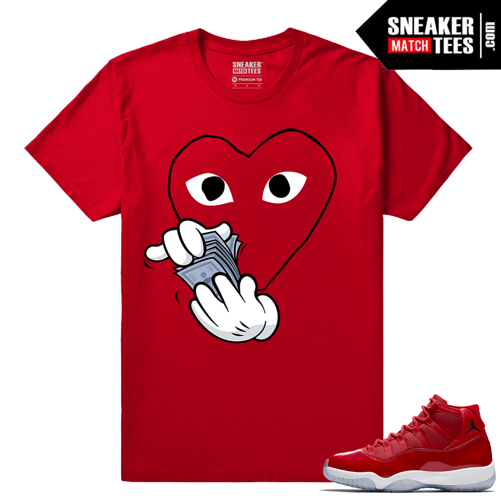 Jordan 11 Win Like 96 Sneaker tees Commes des Money