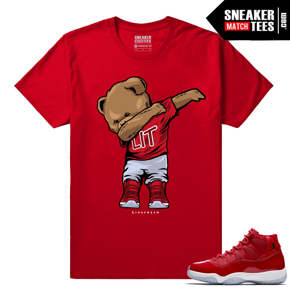 Jordan 11 Win Like 96 Sneaker tees Dabbin Polo Bear
