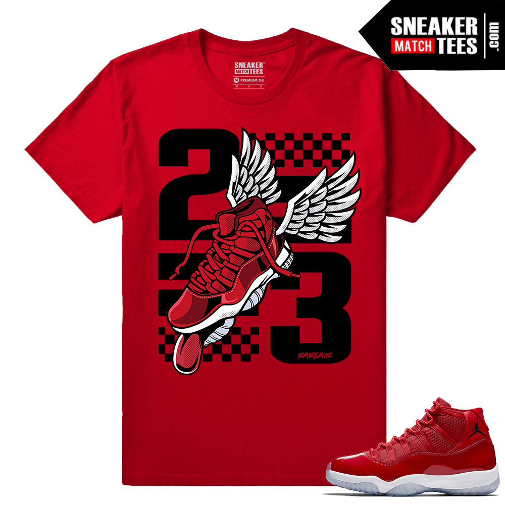 Jordan 11 Win Like 96 Sneaker tees Fly Kicks 11