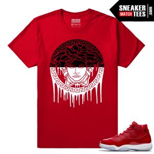 Jordan 11 Win Like 96 Sneaker tees Red Medusa Drip
