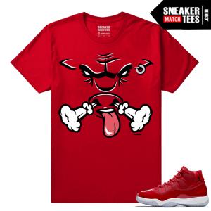 Jordan 11 Win Like 96 Sneaker tees Red Rare Air Bull