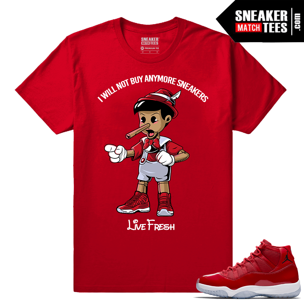 Jordan 11 Win Like 96 Sneaker tees Sneakerhead Pinnochio