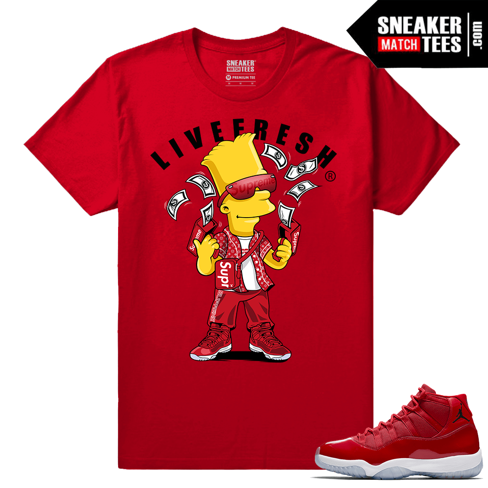 Jordan 11 Win Like 96 T shirt Bart Flex