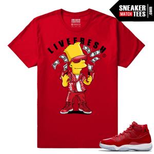 Jordan 11 Win Like 96 T shirt Bart Flex