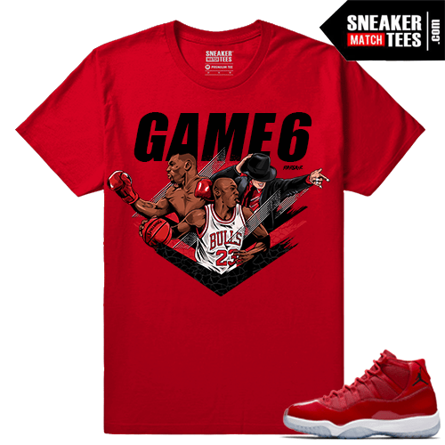 Jordan 11 Win Like 96 Sneaker tees Red Jackson Tyson Jordan Game 6