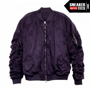 Bomber Jacket Purple Suede _1