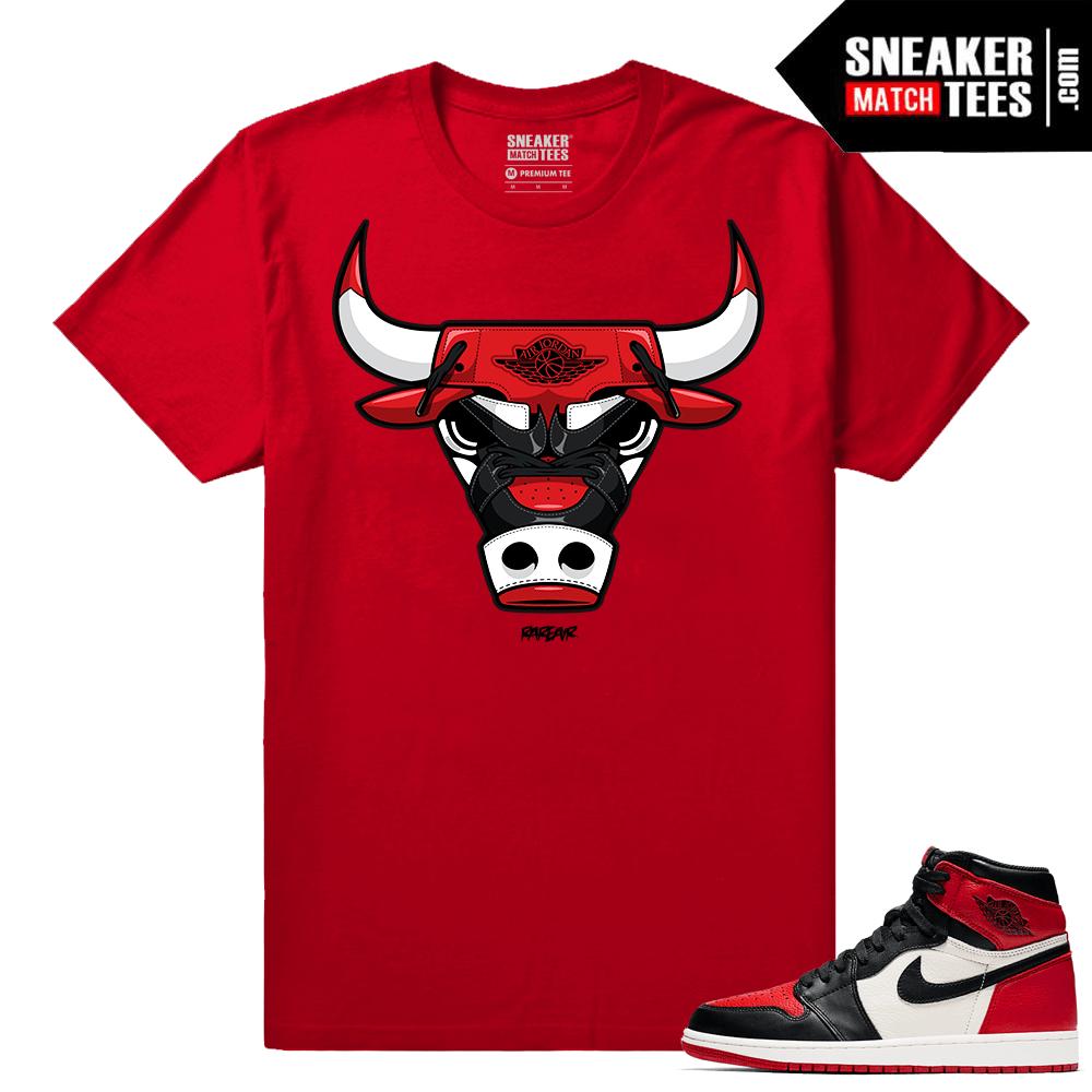 meet 3937e 8f832 Jordan 1 Bred Toe Sneaker tees Red Rare Air Bull 1s