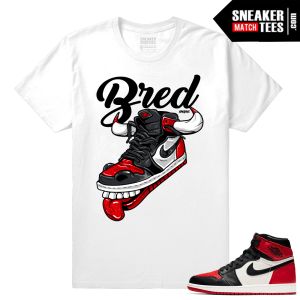 Jordan 1 Bred Toe Sneaker tees White Fly Kicks
