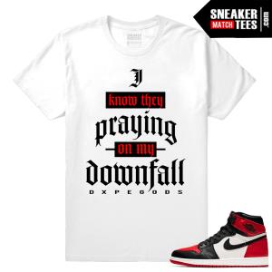 Jordan 1 Bred Toe Sneaker tees White I Know