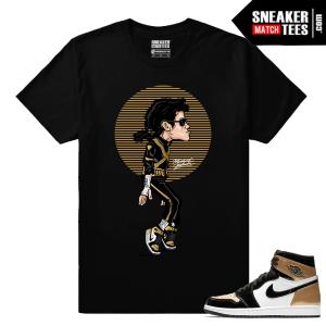 Jordan 1 Gold Toe NRG Sneaker tees Black MJ Tip Toe