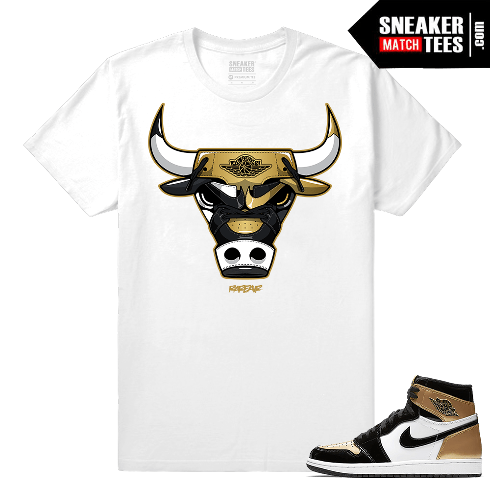 7d27763db36 Jordan 1 NRG Gold Toe Sneaker tees White Gold Toe Bull
