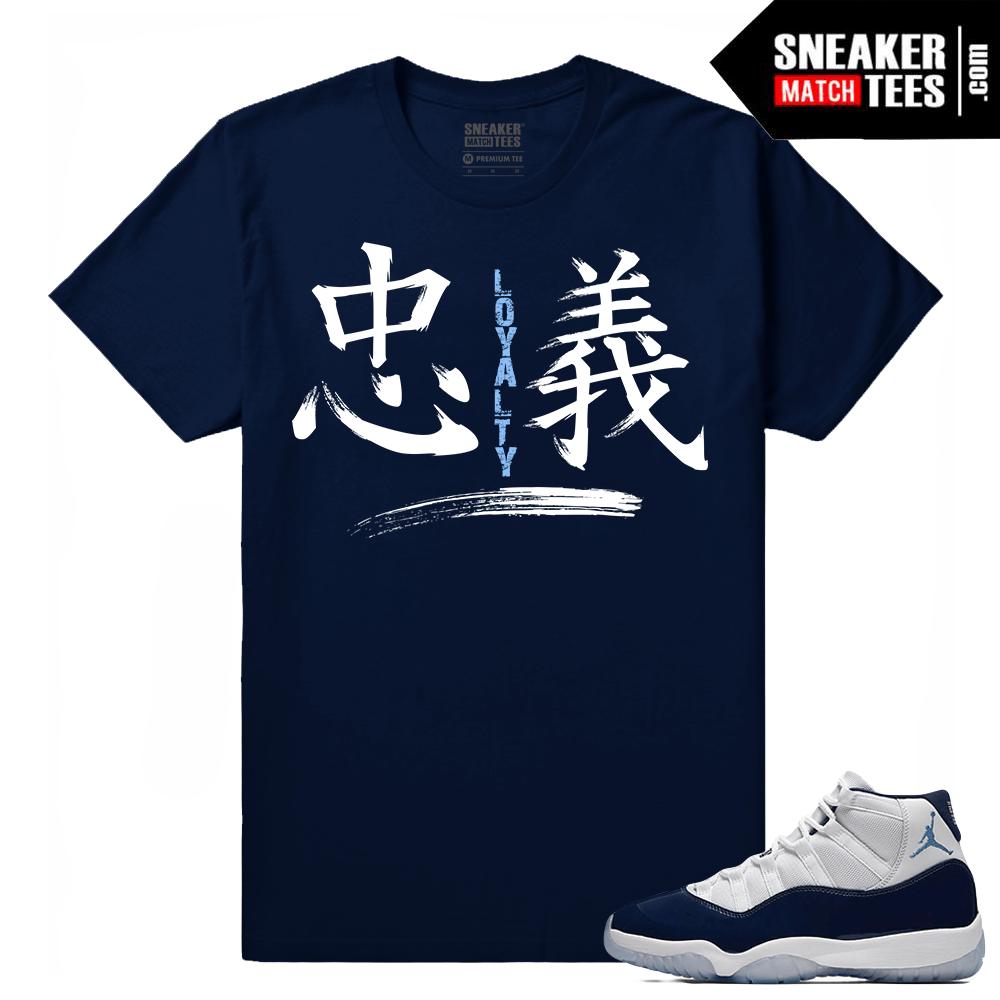 37906f01f9c6 Jordan 11 Win Like 82 Sneaker tees Navy Loyalty