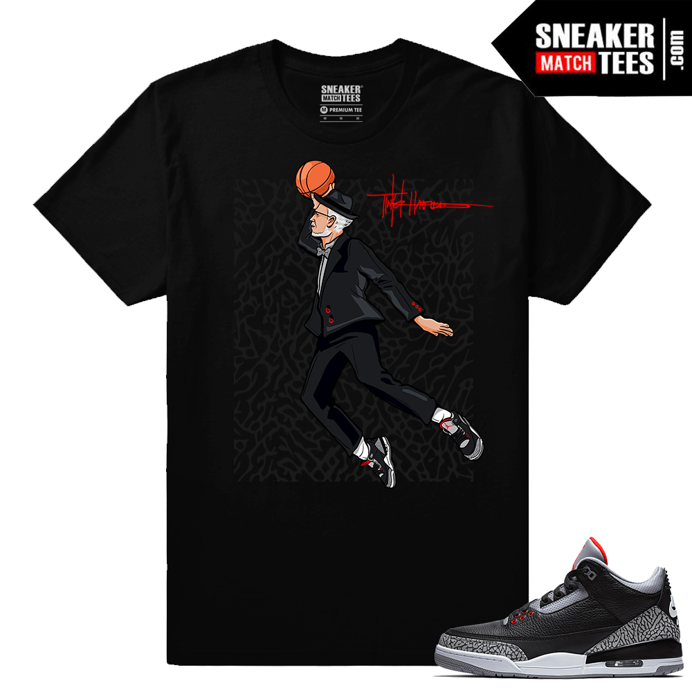 Jordan 3 Black Cement Sneaker tees Air Tinker