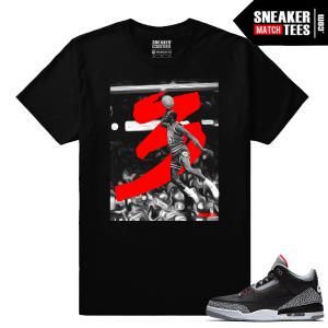 Jordan 3 Black Cement Sneaker tees Black Free Throw Line
