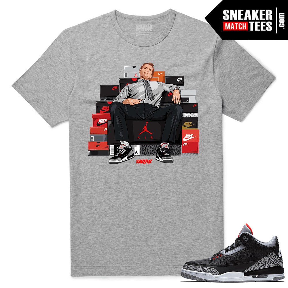Jordan 3 Black Cement Sneaker tees Heather Al Bundy Shoe Connect